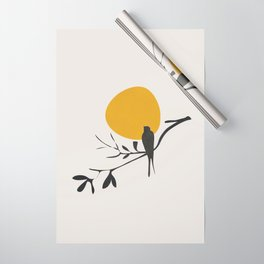 Bird and the Setting Sun Wrapping Paper