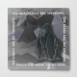 Write The Music Of My Soul Metal Print