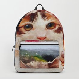 Christmas Kitten Backpack