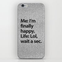 2pac iPhone & iPod Skins featuring I'm finally happy by Text Guy