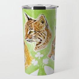Irish Bobcat Trio Travel Mug
