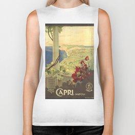 Capri, Napoli (Italy) - Vintage Poster Biker Tank