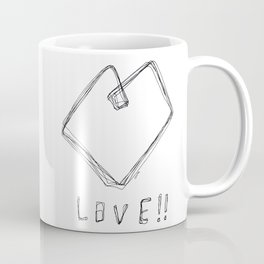 Love! Love! Love! - Heart Illustration Line Art Pop Art Coffee Mug