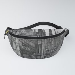 Milan Cathedral, Lombardy, Milan, Italay black and white portrait photography Fanny Pack