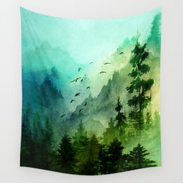 Mountain Morning Wall Tapestry