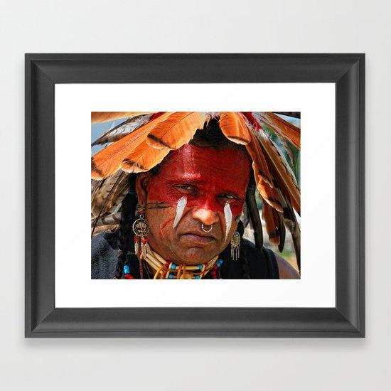 Chippewa Grass Dancer Framed Art Print