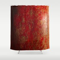 pomegranate Shower Curtains featuring pomegranate by Motif Mondial