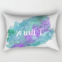 Galaxy - So Will I - Purple/Green Rectangular Pillow