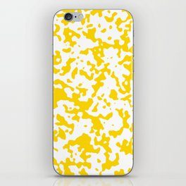 Spots - White and Gold Yellow iPhone Skin
