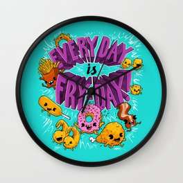 Fry-Day Wall Clock