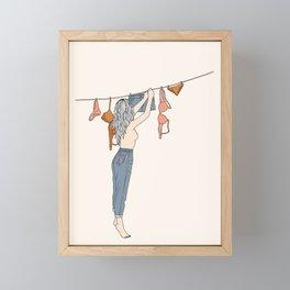 Girl Next Door Framed Mini Art Print