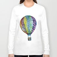 hot air balloon Long Sleeve T-shirts featuring Hot Air Balloon by Emily Stalley
