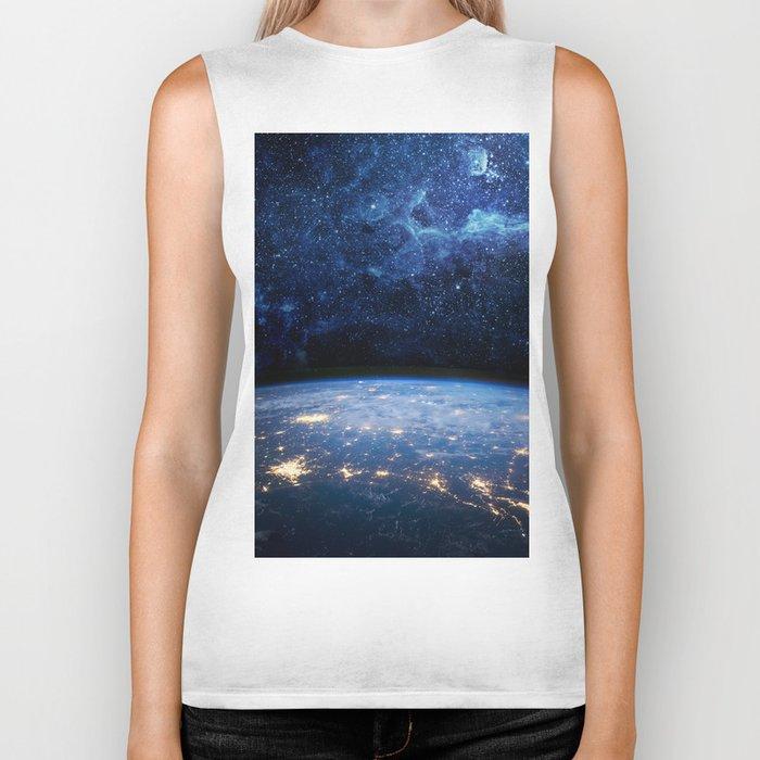 Earth and Galaxy Biker Tank