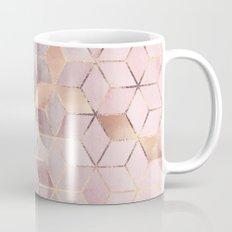 Pink And Grey Gradient Cubes Mug