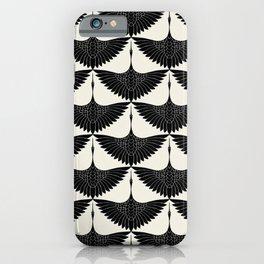 CRANE DESIGN - pattern - Black and White iPhone Case