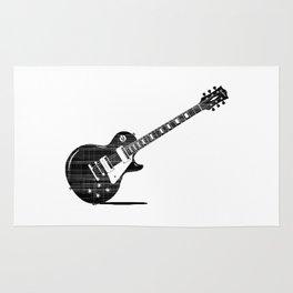 Black Guitar Rug