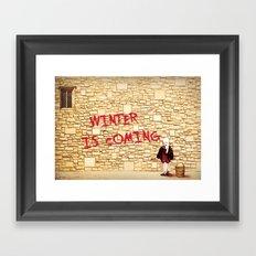 King's Landing Banksy: Winter Framed Art Print