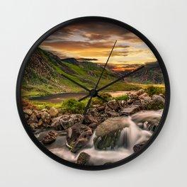 Tryfan and Llyn Ogwen Snowdonia Wall Clock