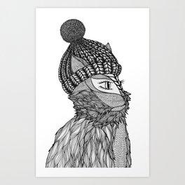 Mr. Henry in a Beanie Art Print