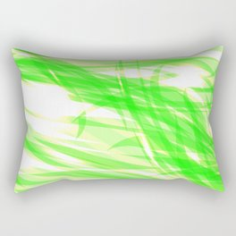 Green and smooth sparkling lines of light green ribbons on the theme of space and abstraction. Rectangular Pillow