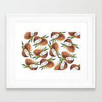 coconut wishes Framed Art Prints featuring Coconut by Vale Bocchi