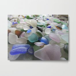 Sea Glass Assortment 6 Metal Print