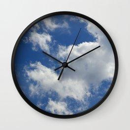 Sunny Cloudy Sky Wall Clock