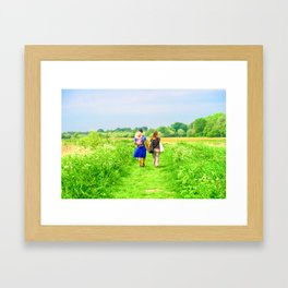 A Walk In The Countryside Framed Art Print