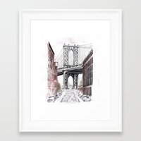 dumbo Framed Art Prints featuring DUMBO by Margarita Zhdanova