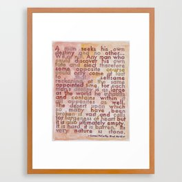 Cormac McCarthy on The Southwest, from The Geography Series Framed Art Print