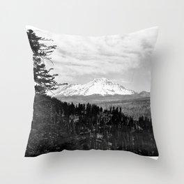 Mount Shasta, and neighboring mountain Shastina, Siskiyou County, ca.1900-1940 Throw Pillow