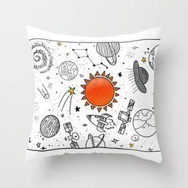 lockep up the space Throw Pillow
