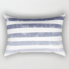 Thick Ombre Stripes (navy blue/white) Rectangular Pillow