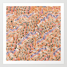 red topography Art Print