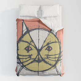 Cubist Cat Study #12 by Friztin Comforters