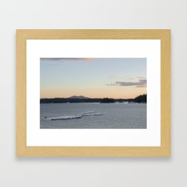Lake and mountain Framed Art Print