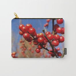 Winterberries glow against a blue autumn sky Carry-All Pouch
