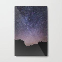 Yosemite Night Sky Metal Print