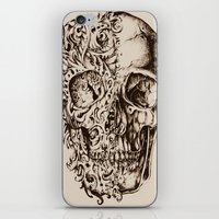 skeleton iPhone & iPod Skins featuring Skeleton by ViviRajski