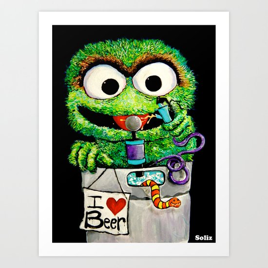 THE GROUCH Art Print