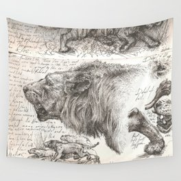 Lion(s) Sketch from Life Wall Tapestry