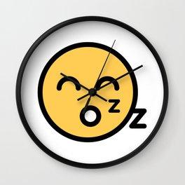 Smiley Face   Sleeping Funny Smileys Wall Clock