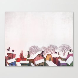 Snow Tops Toronto inspired alleyway Canvas Print