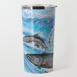Elusive Kings of Alaska Travel Mug