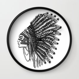 INDIANS - 5 Wall Clock