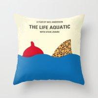 No774 My The Life Aquatic with Steve Zissou minimal movie poster Throw Pillow