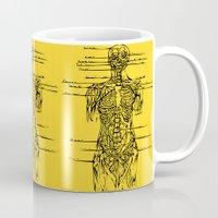 anatomy Mugs featuring Anatomy Lesson by Hazel Bellhop