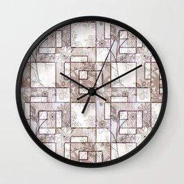 Floral, geometric pattern. Wall Clock