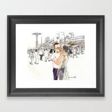 Ghost of Coney Island Framed Art Print