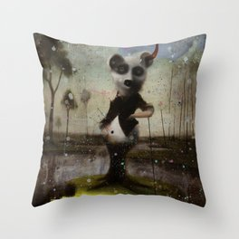 an end in flight Throw Pillow